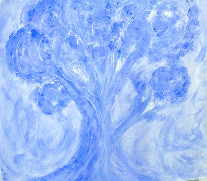 Blue Tree in a mist