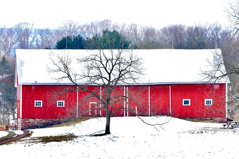 McLean Barn in Winter