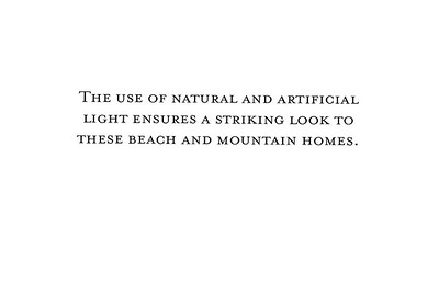 Beach and Mountain Homes