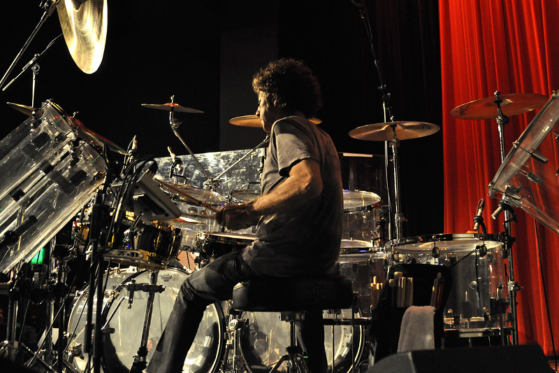 SAN FRANCISCO, CA-JUNE 5: Simon Phillips performs with Hiromi at Yoshi's in San Francisco, CA on June 5, 2011. (Photo by Clayton Call/Redferns)