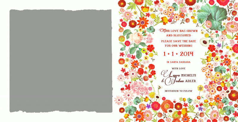 Paradise Found Save the Date inside