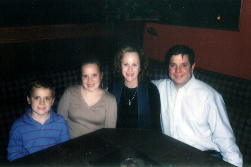 Alan, Heather, Julia (14) and Henry (10) Collins
