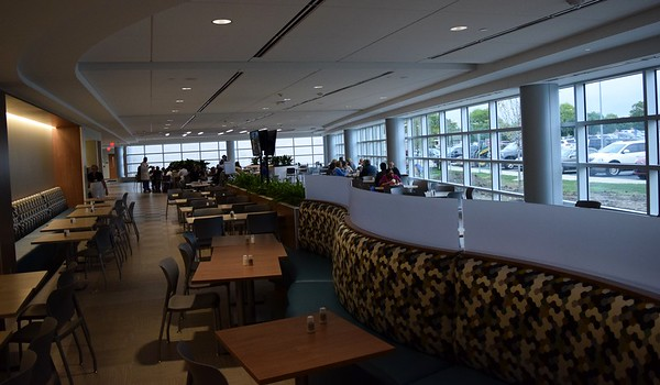 The new cafeteria in the south tower at St. Joseph Mercy Oakland in Pontiac on Sept. 29, 2016.