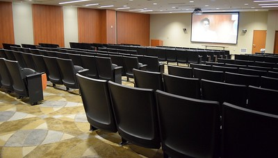 The auditorium inside the Education Center at St. Joseph Mercy Oakland in Pontiac on Sept. 29, 2016.