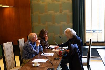 Bespreking stand op bord met adviseur Frank Teer en arbiter Paul Visser