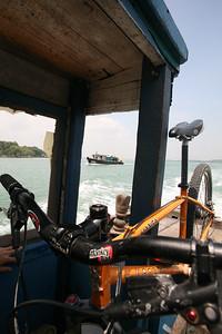 Mountain biking Pulau Ubin, Singapore