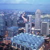 Singapore at sunset from the New Asia Bar...70th floor of the Swissotel.  Teambuilding event from the highest point in Singapore.