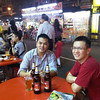 After a day with customers, dinner in Kuala Lumpur with Francis and Erick at the Jalan Alor street hawker