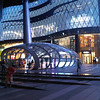 ION Mall at night.  Corner of Orchard Road and Scotts Street, Singapore