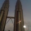 Petronas Twin Towers, Kuala Lumpur, Malaysia...taken from a cell phone from the back of a taxi