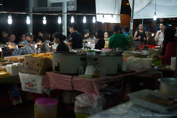 More queues at the food stalls