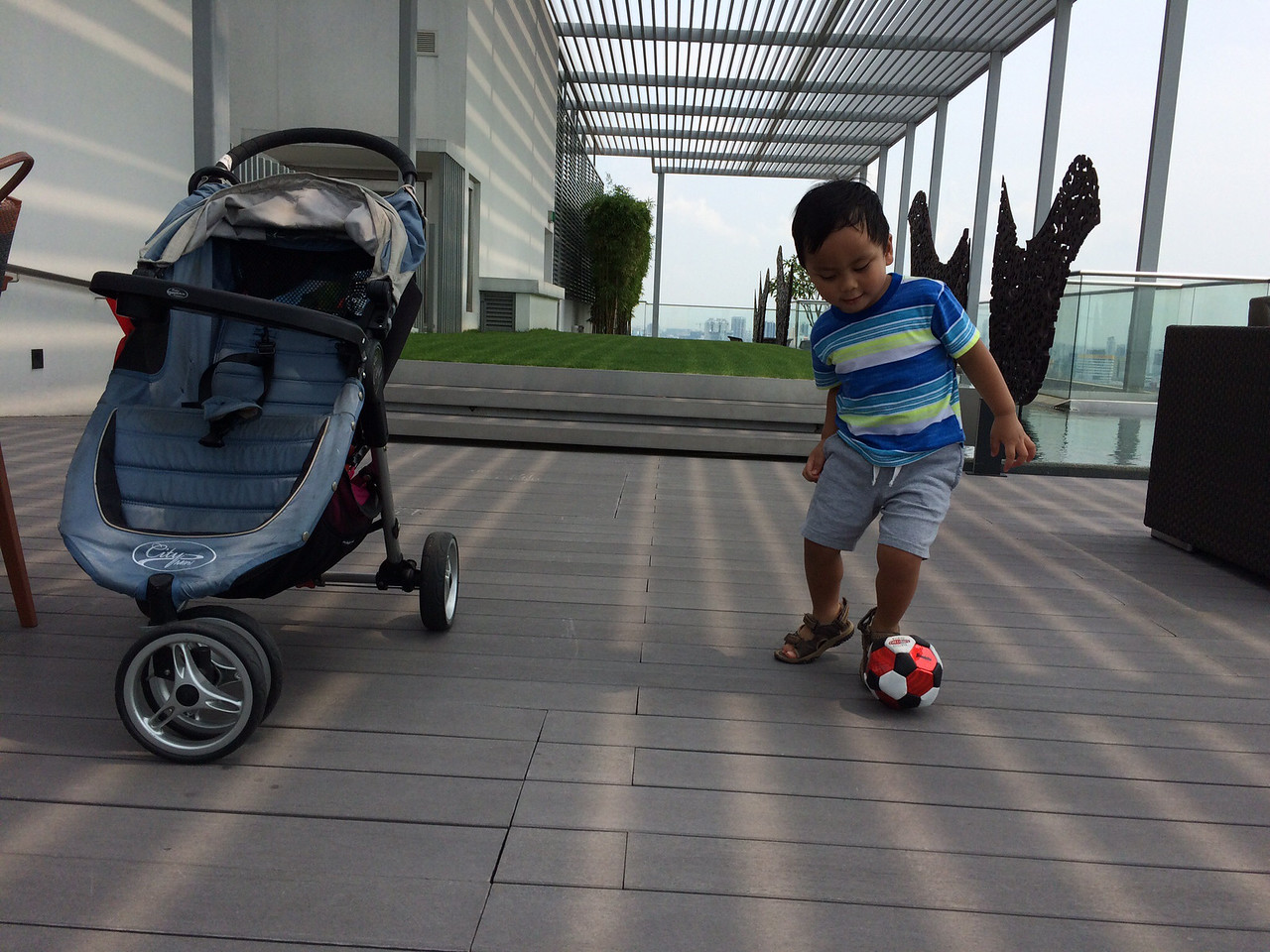 He's pretty good at handling a soccer ball, not even 3...