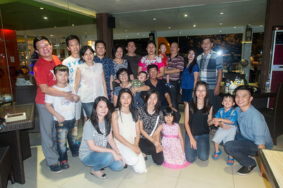 Eggie & MeiLing Tanimena with  their 12 grandchildren and their children  Sansye, Andreas, Frangky, Harry and their partners . Never before have they all been together.
