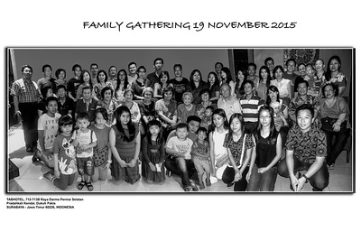 Group family photo put together by Harry and Kath as too large to get all in one photo