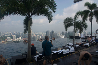 Roof top pool, a great relief from the heat.