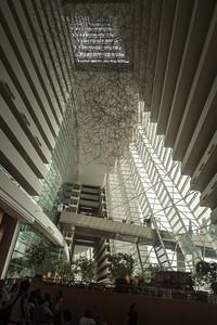 Inside the Marina Bay hotel