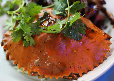 Black Pepper Crab, a Singaporean favorite