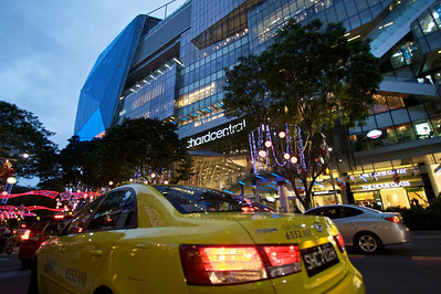 Orchard Central. Packed with shoppers