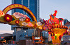 Street decorations for Chinese New Year along Eu Tong Sen Street or New Bridge Road in Singapore, East Asia.