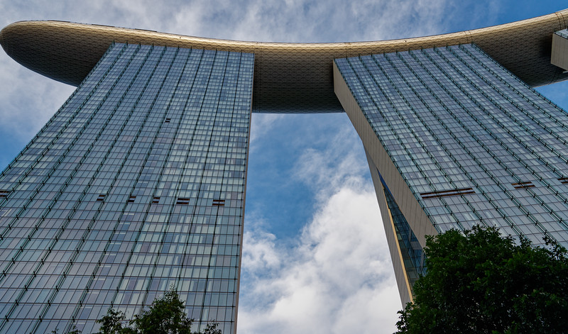 Marina Bay Sands Hotel on the waterfront in Singapore