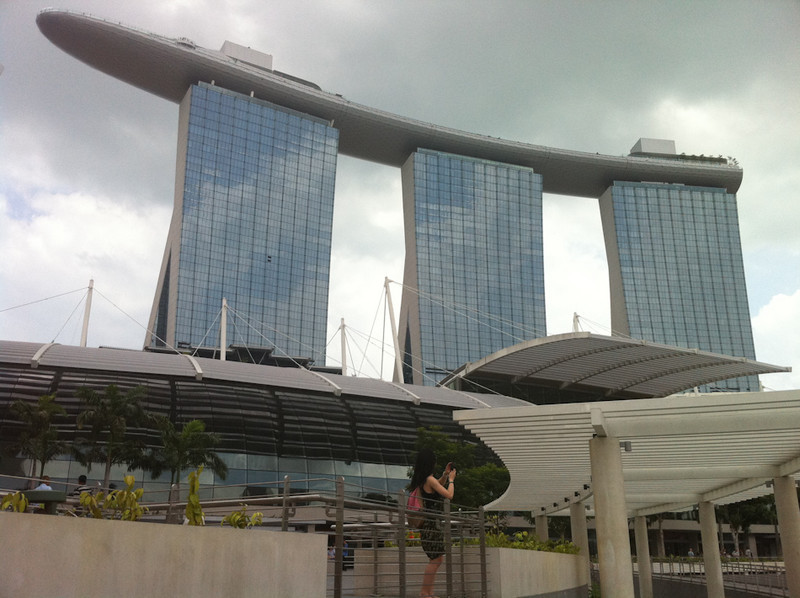 Marina Bay Sands Hotel seen from ground level