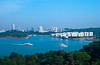 Views of Singapore and the harbour from Sentosa Island, East Asia.