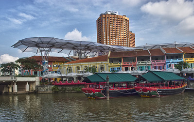 Boats at Clark Quay