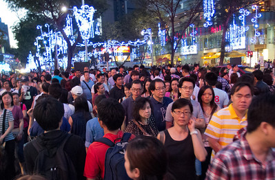 Singapore has gotten much more crowded these days, 31 Dec 2011.