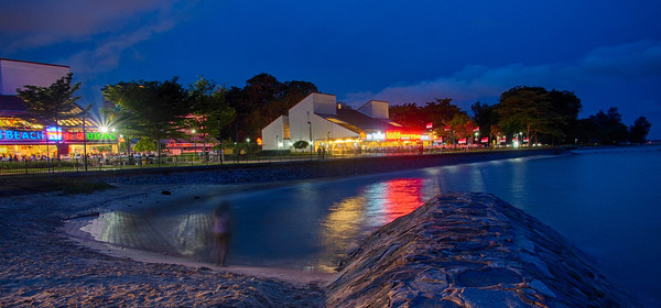 East Coast Park at night
