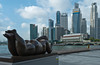 The downtown Singapore City skyline, East Asia.