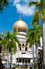 Masjid Sultan mosque, a preserved national monument in Singapore, East Asia.