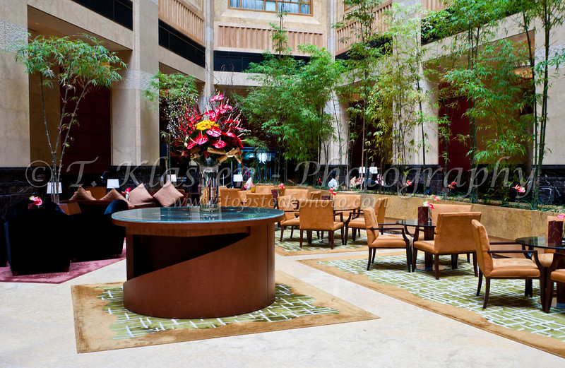 Interior furnishing  of the Fullerton Hotel in Singapore, East Asia.