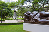 Bronze sculptures in the parks in Singapore, East Asia.