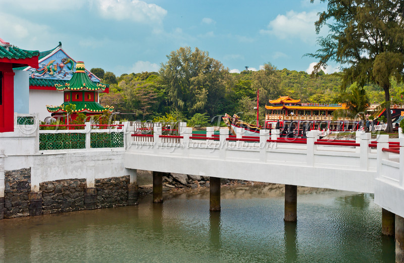 An ancient Chinese Temple on the island of Kusu, in the Singapore harbour,East Asia.