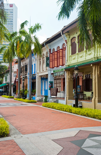 Views of shops down Arab Street in Singapore, East Asia.