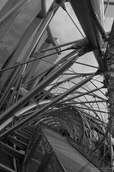 Helix Bridge with Marina Bay Sands Casino