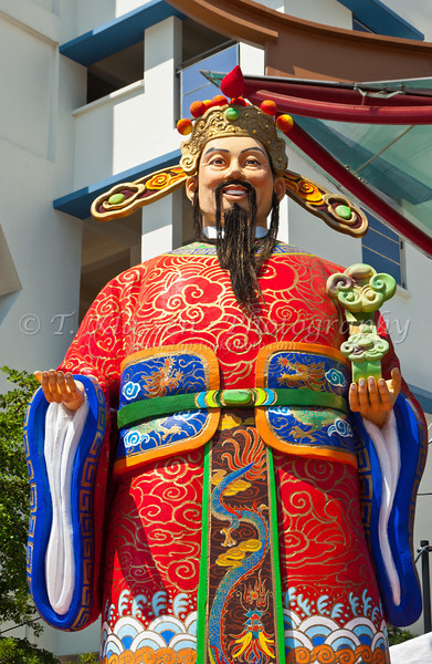 Confucious monument in Chinatown, Singapore, East Asia.