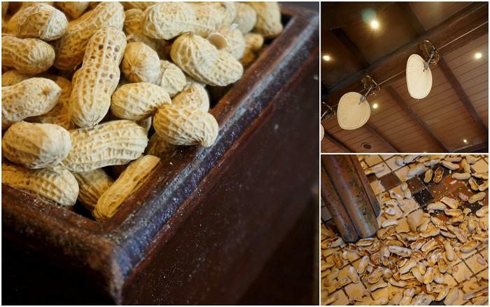 Tossing peanut shells on the floor at the Raffles Hotel bar.
