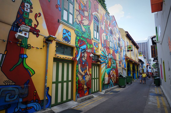 Cool street art in Singapore's Arab Quarter.