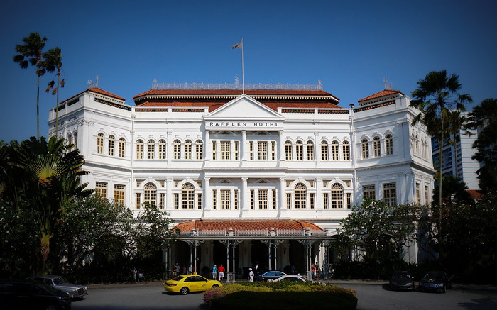 The Raffles Hotel in Singapore - home to the Singapore Sling!