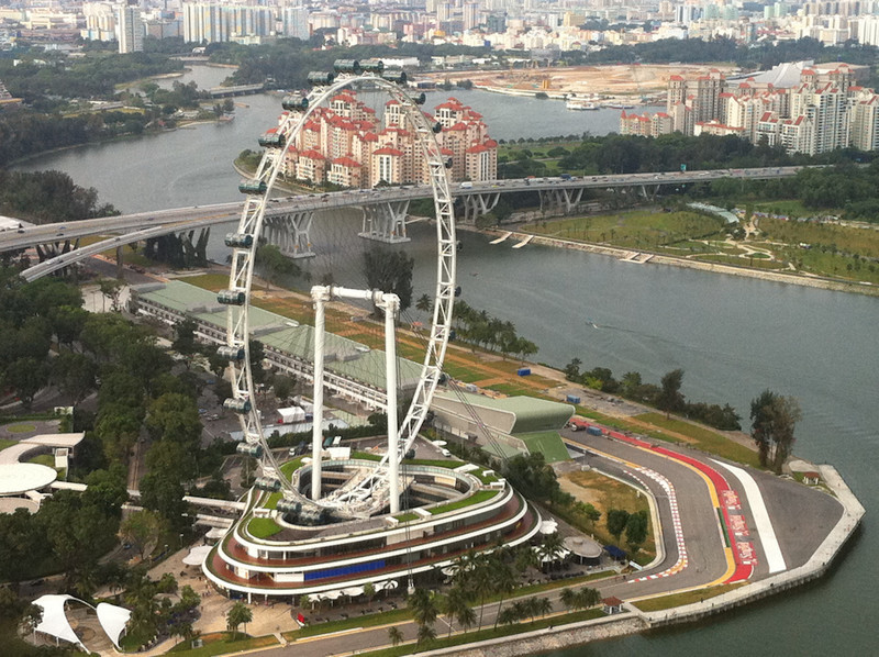 The Singapore Flyer seen from the Singapore SkyPark