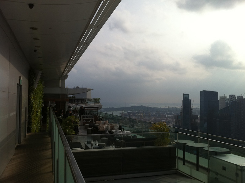 The view into the hotel-guests-only area of the SkyPark. Nice sofas.