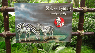 Singapore Zoo — I wonder if they also sponsor a chicken exhibit?