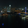 Amazing view of Marina Bay from the balcony of Level33 Restaurant