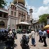 Friday prayers at Sultan Mosque, Kampong Glam neighbourhood