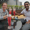 Our first Singapore slings in Singapore