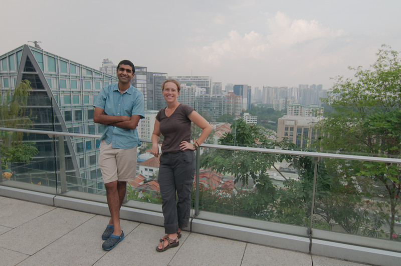 Our host Rajiv showing us downtown Singapore