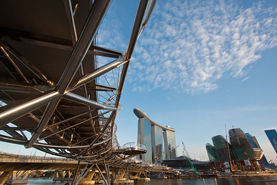 The Helix, and The Marina Sands - Singapore