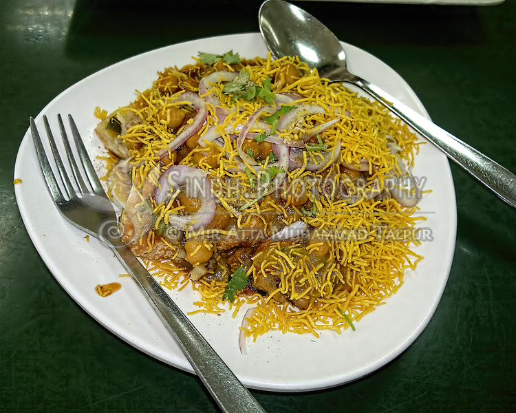 Murukku (Ganthiya) Chaat at Lau Pa Sat Singapore
