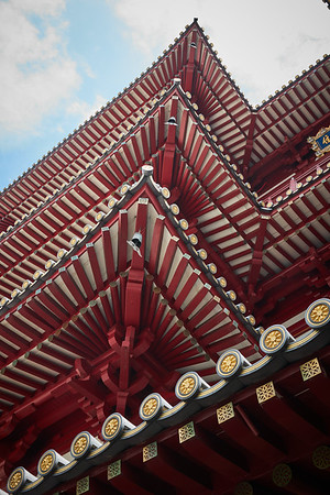 The Buddha Tooth Relic Temple and Museum in the Chinatown district of Singapore